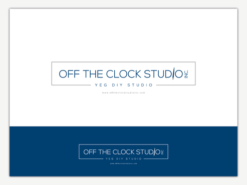 Off the Clock Studio Inc. Logo Winning Design by Chlong2x