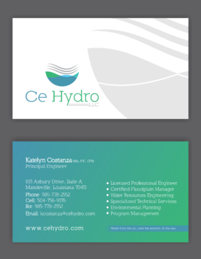 Water Resources, flooding, engineering, hurricanes, rain, flood control structures Business Cards and Stationery  Draft # 148 by elevatedDesigns