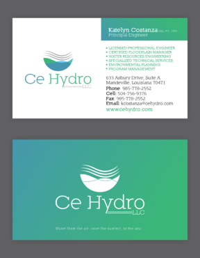 Water Resources, flooding, engineering, hurricanes, rain, flood control structures Business Cards and Stationery  Draft # 157 by elevatedDesigns