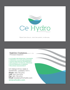 Water Resources, flooding, engineering, hurricanes, rain, flood control structures Business Cards and Stationery  Draft # 159 by elevatedDesigns