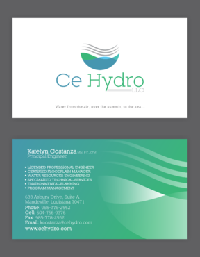 Water Resources, flooding, engineering, hurricanes, rain, flood control structures Business Cards and Stationery  Draft # 160 by elevatedDesigns