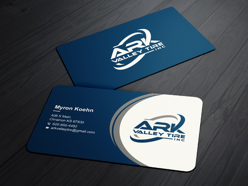 Ark Valley Tire Inc. Business Cards and Stationery  Draft # 228 by creature313