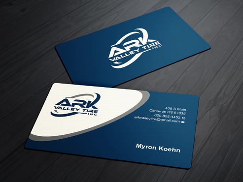 Ark Valley Tire Inc. Business Cards and Stationery  Draft # 230 by creature313
