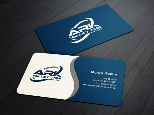 Ark Valley Tire Inc. Business Cards and Stationery  Draft # 231 by creature313