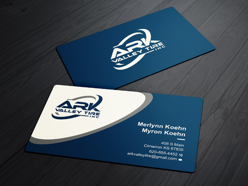 Ark Valley Tire Inc. Business Cards and Stationery  Draft # 234 by creature313