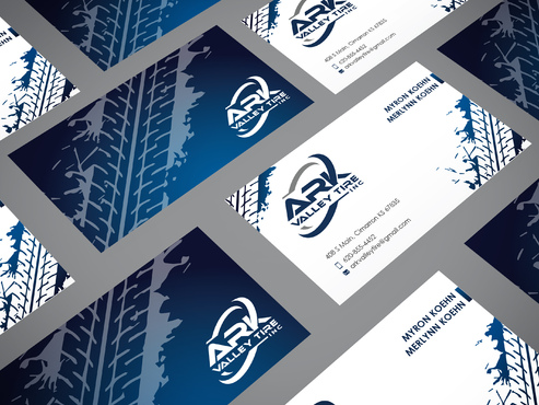Ark Valley Tire Inc. Business Cards and Stationery Winning Design by sevensky