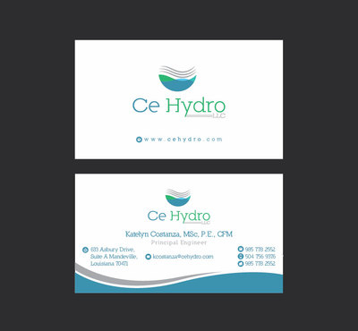 Water Resources, flooding, engineering, hurricanes, rain, flood control structures Business Cards and Stationery  Draft # 163 by apu666