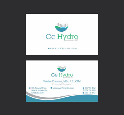 Water Resources, flooding, engineering, hurricanes, rain, flood control structures Business Cards and Stationery  Draft # 164 by apu666