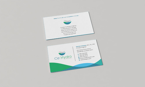Water Resources, flooding, engineering, hurricanes, rain, flood control structures Business Cards and Stationery  Draft # 167 by Xpert