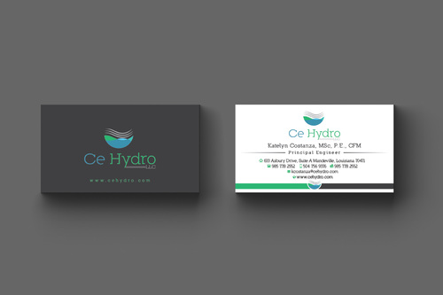 Water Resources, flooding, engineering, hurricanes, rain, flood control structures Business Cards and Stationery  Draft # 177 by apu666
