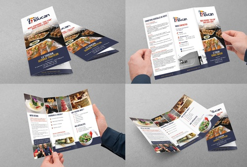 Le Toucan Traiteur Marketing collateral Winning Design by Achiver