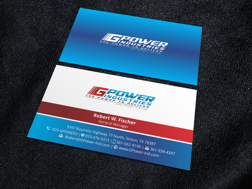 GPower Industries Business Cards and Stationery  Draft # 1 by Xpert
