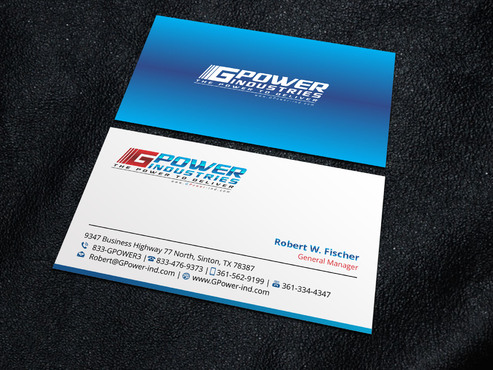 GPower Industries Business Cards and Stationery  Draft # 2 by Xpert