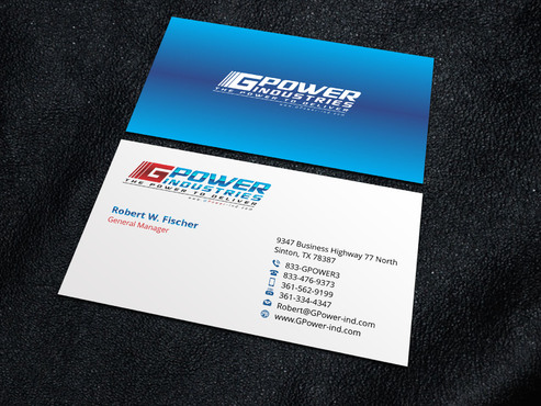 GPower Industries Business Cards and Stationery  Draft # 4 by Xpert