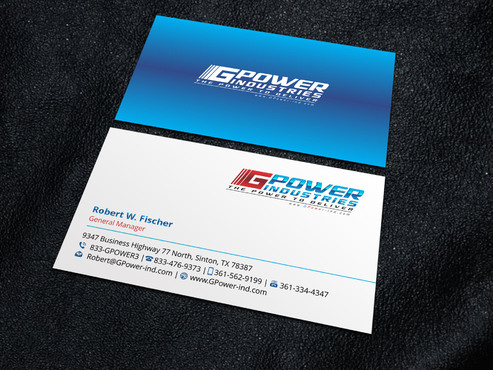 GPower Industries Business Cards and Stationery  Draft # 5 by Xpert