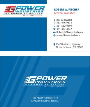 GPower Industries Business Cards and Stationery  Draft # 135 by arshadmughal