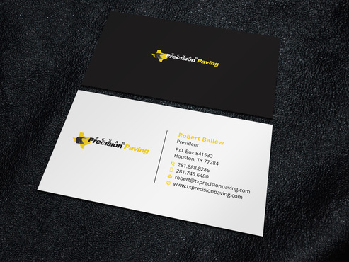 Texas Precision Paving Business Cards and Stationery  Draft # 2 by Xpert