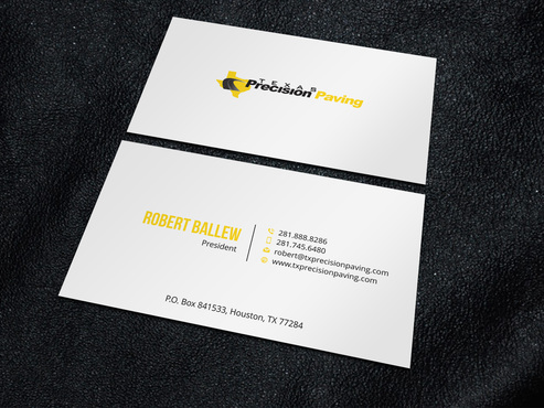 Texas Precision Paving Business Cards and Stationery  Draft # 4 by Xpert
