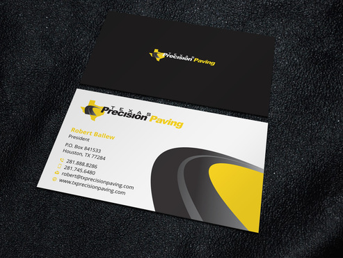 Texas Precision Paving Business Cards and Stationery  Draft # 5 by Xpert