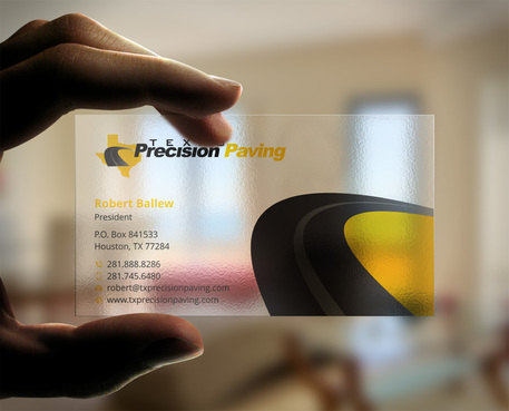 Texas Precision Paving Business Cards and Stationery  Draft # 7 by Xpert