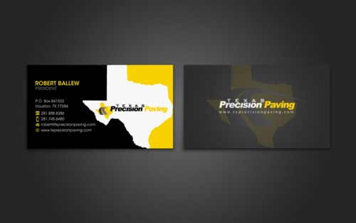 Texas Precision Paving Business Cards and Stationery  Draft # 130 by einsanimation