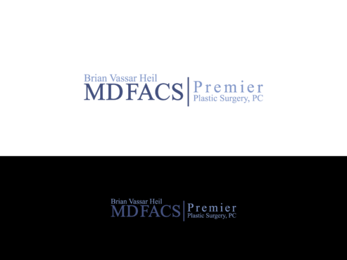 Brian Vassar Heil, MD FACS    Premier Plastic Surgery, PC A Logo, Monogram, or Icon  Draft # 182 by TatangMAssa