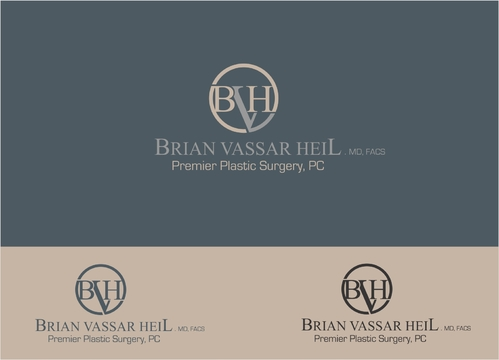 Brian Vassar Heil, MD FACS    Premier Plastic Surgery, PC A Logo, Monogram, or Icon  Draft # 187 by afiafalisha
