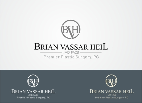Brian Vassar Heil, MD FACS    Premier Plastic Surgery, PC A Logo, Monogram, or Icon  Draft # 192 by afiafalisha