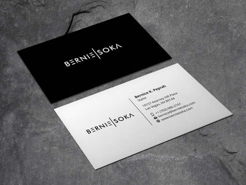 Bernie Soka Business Cards and Stationery  Draft # 1 by Xpert