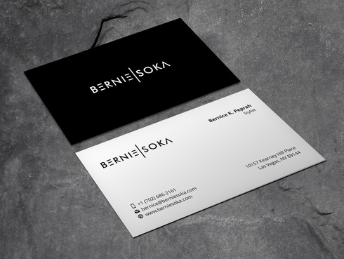 Bernie Soka Business Cards and Stationery  Draft # 4 by Xpert