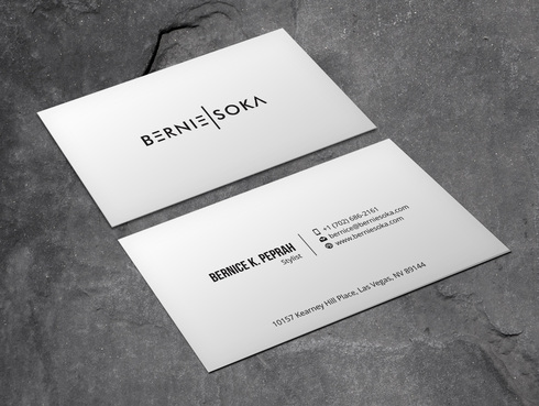 Bernie Soka Business Cards and Stationery  Draft # 5 by Xpert
