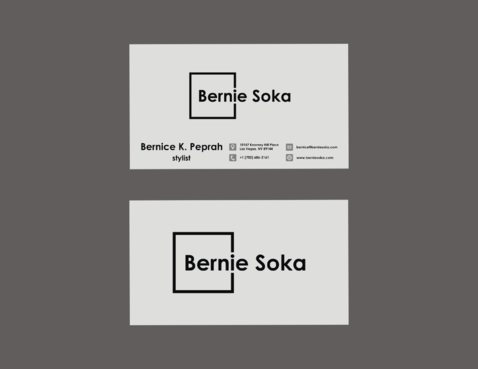 Bernie Soka Business Cards and Stationery  Draft # 67 by NderekDawooh