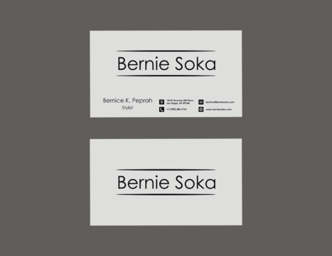 Bernie Soka Business Cards and Stationery  Draft # 68 by NderekDawooh