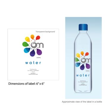 Design by nelly83 For Water Bottle Label for Holistic Beverage Company