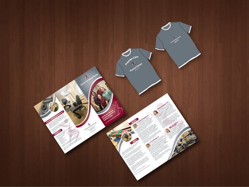 Tri fold brochure & T shirt design