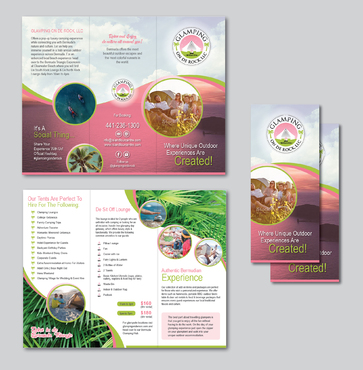 Design by Achiver For Luxury Pop up Camping Experience Brochure