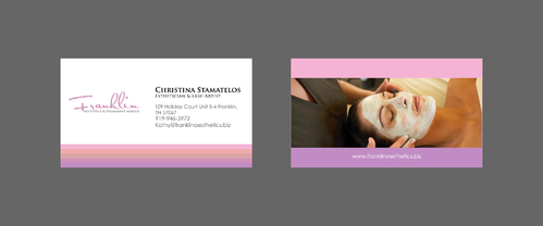 Boutique spa offering specialized result oriented services Business Cards and Stationery  Draft # 1 by merem
