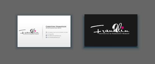 Boutique spa offering specialized result oriented services Business Cards and Stationery  Draft # 9 by merem