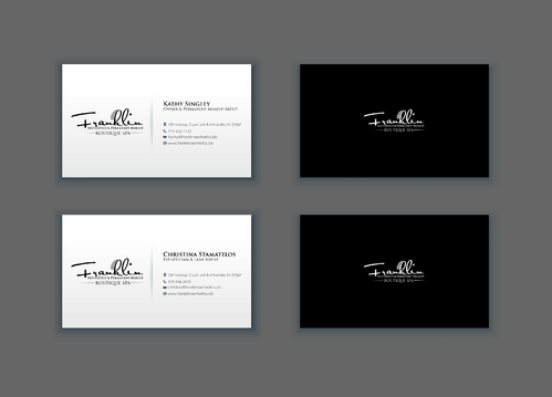 Boutique spa offering specialized result oriented services Business Cards and Stationery  Draft # 23 by merem