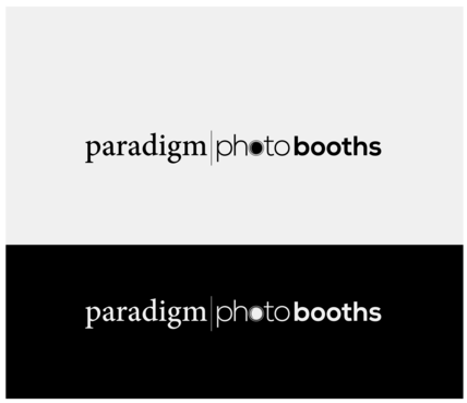Paradigm Photo Booths Logo Winning Design by DiscoverMyBusiness