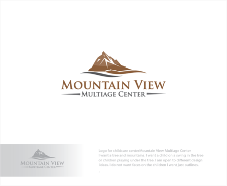 Mountain View Multiage Center A Logo, Monogram, or Icon  Draft # 9 by logoGamerz