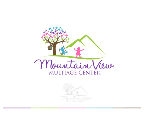 Mountain View Multiage Center Logo Winning Design by decentdesign