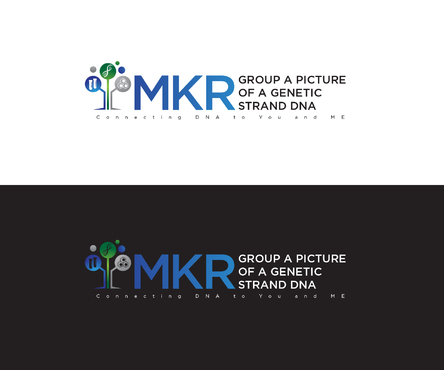 MKR Group a picture of a genetic strand DNA A Logo, Monogram, or Icon  Draft # 133 by Jake04