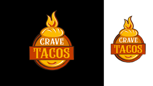 Crave Tacos A Logo, Monogram, or Icon  Draft # 19 by Stardesigns