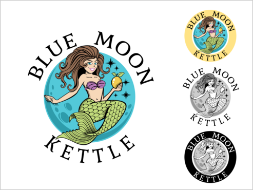 Blue Moon Kettle Logo Winning Design by thebullet