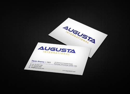 Augusta International Business Cards and Stationery  Draft # 1 by i3designer