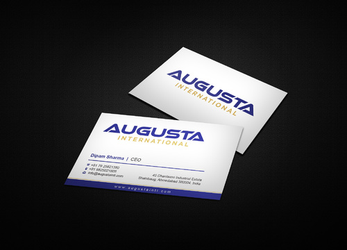 Augusta International Business Cards and Stationery  Draft # 2 by i3designer