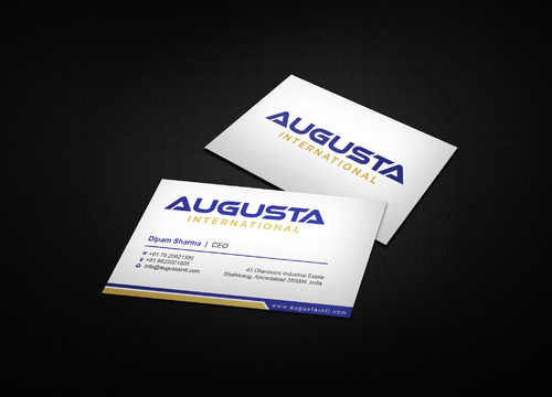 Augusta International Business Cards and Stationery  Draft # 3 by i3designer
