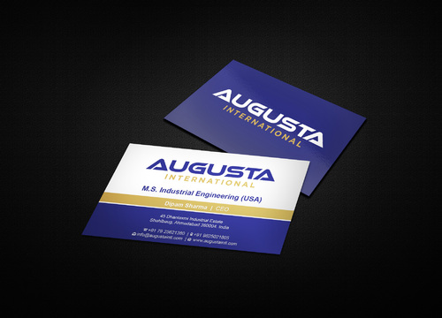 Augusta International Business Cards and Stationery  Draft # 4 by i3designer