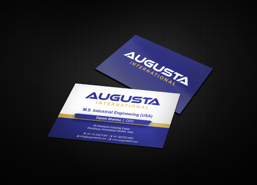Augusta International Business Cards and Stationery  Draft # 5 by i3designer